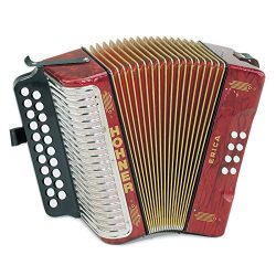 Hohner Erica Two-Row AD, Pearl Red