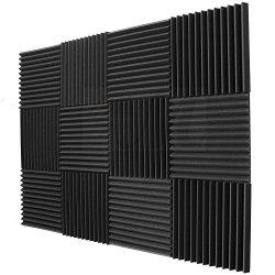 12 Pack- Acoustic Panels Studio Foam Wedges 1″ X 12″ X 12″