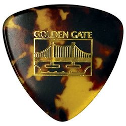Golden Gate MP-10 Deluxe Tortoise Style Mandolin Pick – Large Triangle – Dozen