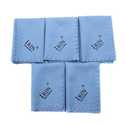 ammoon 5pcs Microfiber Cleaning Polishing Polish Cloth for Musical Instrument Guitar Violin Pian ...
