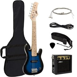 Best Choice Products Electric Guitar Kids 30″ Blue Guitar W/ Amp, Case, Strap (Blue)