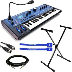 Novation MiniNova Synthesizer w/ Keyboard Stand, Cables & Cable Ties