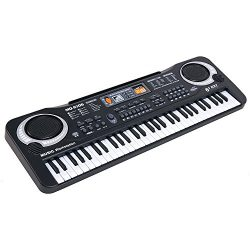 Boshen 61 Keys Electronic Keyboard Portable Digital Piano for Kids Early Education with Micropho ...