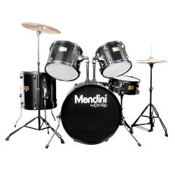 Mendini by Cecilio Complete Full Size 5-Piece Adult Drum Set with Cymbals, Pedal, Throne, and Dr ...