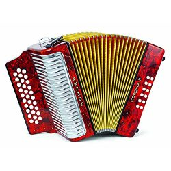 Hohner Button Accordion Corona II Classic FBbEb, With Gig Bag, Straps And Adjustable Bass Strap, ...