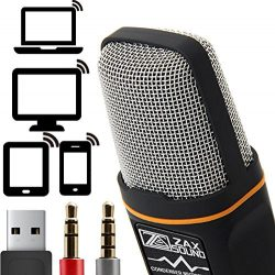 Professional Cardioid Condenser Microphone With Tripod Stand for PC, Laptop, iPhone, iPad, Andro ...