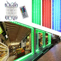 LED Storefront Lights,Pomelotree 40ft 80 Pieces Waterproof led window lights for Letter Sign Adv ...