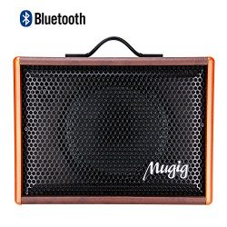 Mugig Guitar Amplifier – Rechargeable Speaker Works with Guitar (Acoustic and Electric), V ...