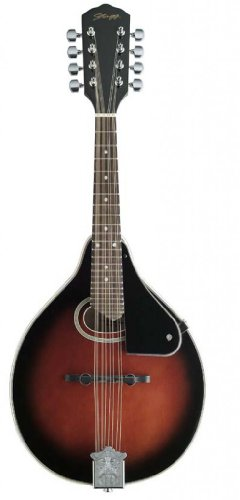 Stagg M-30 Bluegrass Mandolin with Spruce Top – Redburst