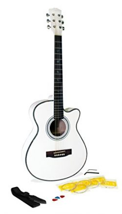 Martin Smith W-401E-WHT Electric Acoustic Guitar Cutaway, White