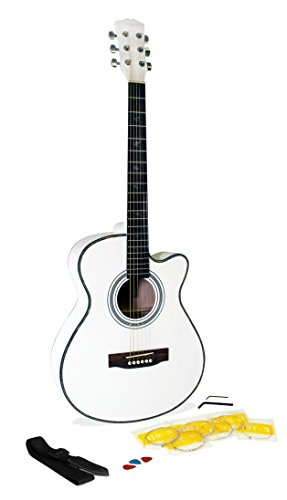 martin smith w 401e wht electric acoustic guitar cutaway white musicalbin musicalbin. Black Bedroom Furniture Sets. Home Design Ideas