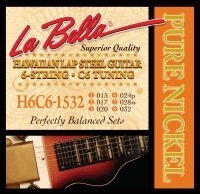 LaBella H6C6-1532 Hawaiian Lap Steel Guitar Pure Nickel – 6-String C6 Tuning 15-32