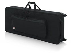 Gator Cases Lightweight Rolling Keyboard Case for 61 Note Keyboards and Electric Pianos (GK-61)