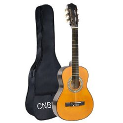 Classical Guitar Acoustic Guitar Kids 1/2 Size 30 inch Nylon Strings Guitar Starter Kits for Chi ...