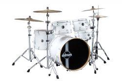 ddrum REFLEX WHT WHT 22 5 PC Drum Set, White