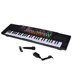 54 Keys Children's Keyboard Electronic Musical Piano for Beginners and Kids with External Speake ...