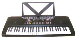 Huntington KB54 54-Key Portable Electronic Keyboard, Black