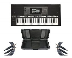 Yamaha PSR-A3000 World Arranger Keyboard Workstation + SKB Case + Mogami Cables