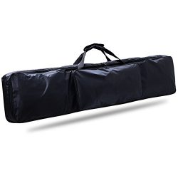 88 Key Piano Keyboard Gig Bag, Waterproof 88-Key Keyboard Case Nylon Extra Pockets for Electric  ...
