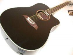Oscar Schmidt 12 String Acoustic/Electric Guitar, Kaces Gig Bag, Black, OD312CEB