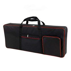 61 Key Keyboard Gig Bag Padded Case, Portable Electric Keyboard Piano 420D Oxford Cloth with 4mm ...