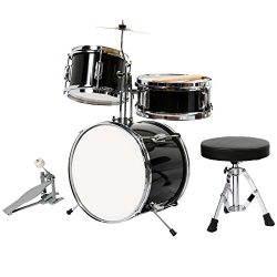 LAGRIMA 13″-3 Piece Junior/Kids/Starter Drum Set, Complete Cymbals with Stand, Hi-Hat, Dru ...