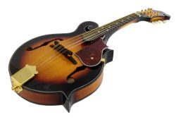 8-String MANDOLIN F-Style SUNBURST TOBACCO Sandalwood Gold Hardware