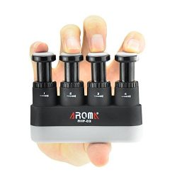 Finger Strengthener,4 Tension Adjustable Hand Grip Exerciser Ergonomic Silicone Trainer for Guit ...