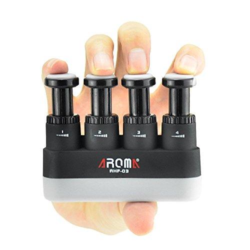 Finger Strengthener,4 Tension Adjustable Hand Grip Exerciser Ergonomic Silicone Trainer for Guit ...