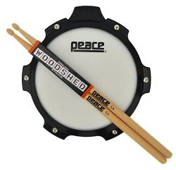 Drum Pad With Sticks From Peace Drums. Snare Drum Practice Pad And Drumsticks Set. Drum Practice ...