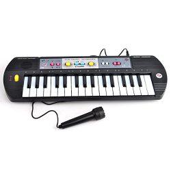 Electronic Keyboard, Yamix 32 Key Small Electronic Keyboard Piano Organ Early Educational Toy wi ...