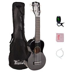 Trendy Soprano 21 Inch Ukulele Painted Hawaiian Style With Starter Pack (Gig Bag, Tuner, Strap ...