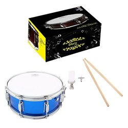Glory Snare Drum With Sticks, and Strap, for Beginners and Students, Blue Color- Click to Choose ...