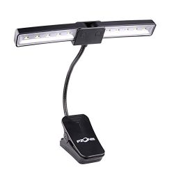 LC Prime MG070 Music Light Portable Clip on Stand for Electronic Organ Pianos Orchestra, Black,  ...