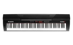 Alesis Coda Pro | 88-Key Digital Piano with Hammer-Action Keys, Split Keyboard & Voice Layer ...