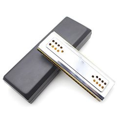 Andoer 2-in-1 Dual-sided Tremolo Harmonica Mouth Organ Dural Key of C&G 24 Double Holes Reed ...