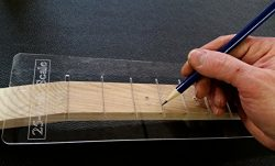 25-inch Fretting Scale Marking Template for Guitars – Laser-cut-Acrylic – Popular Sc ...