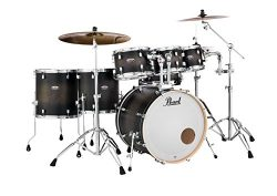 Pearl Decade DMP927SP/C262 7 Piece Drum Shell Pack, Satin Blackburst
