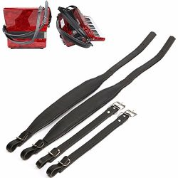 Oask Accordion Shoulder Straps,Adjustable Synthetic Leather for 16-120 Bass,Soft Shoulder Straps ...