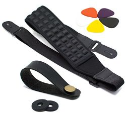 Ultimate Guitar Strap Pack: High-End Bass & Electric Guitar Strap with 2 Strap Locks, Strap  ...