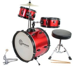 Red Drum Set Complete Junior Kid's Children's Size with Cymbal Stool Sticks – Everything Y ...