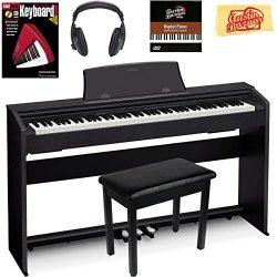 Casio Privia PX-770 Digital Piano – Black Bundle with Furniture Bench, Headphones, Instruc ...