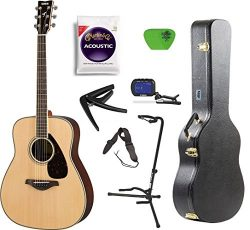 Yamaha FG800 Acoustic Guitar Solid Top with Knox Hard Shell Guitar Case,Tuner,Stand,strings,Stap ...