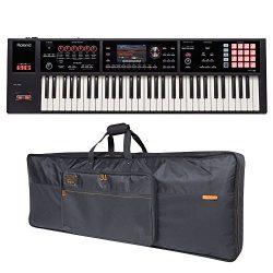 Roland FA-06 61-key Music Workstation and Roland Black Series Keyboard Bag Bundle