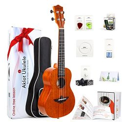 Tenor Ukulele 26 Inch Ukele Ukelele Solid Mahogany Uke With Free Online Lessons 8 Packs Beginner ...
