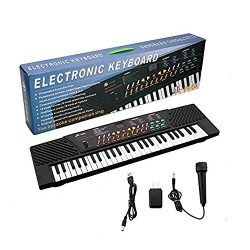 54 Key Children's – Portable Electric Music Keyboard Piano with External Speaker/Mic ...