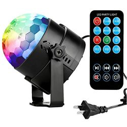 Disco Ball Disco Lights-COIDEA Party Lights Sound Activated Storbe Light With Remote Control DJ  ...