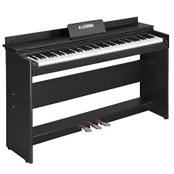 LAGRIMA Digital Piano, 88 Key Console Keyboard Piano for Beginner/Adults (black)