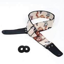 Guitar Strap Vintage Woven Style Adjustable Acoustic Electric Guitar Strap Bass Guitar Strap wit ...