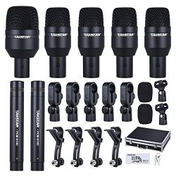 ammoon TAKSTAR DMS-D7 Drum Set Wired Microphone Mic Kit with Standard Mounting Accessories Carry ...